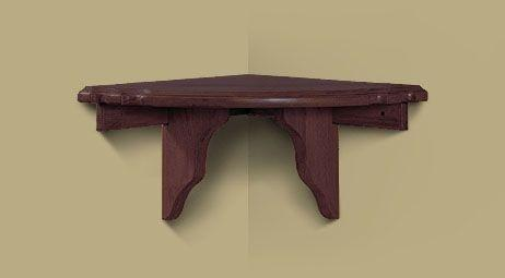 Heritage Corner Shelf Black Cherry